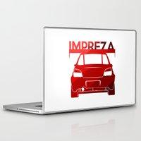 subaru Laptop & iPad Skins featuring Subaru Impreza - classic red - by Vehicle