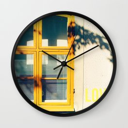 Love Window Wall Clock