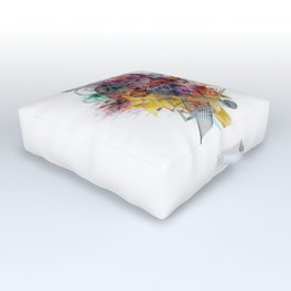 Colors of the wind by Nico Bielow Outdoor Floor Cushion