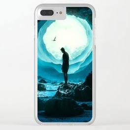 Round World Clear iPhone Case
