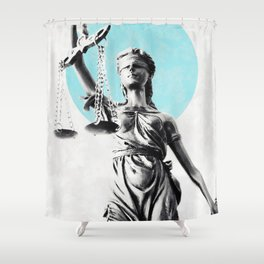 Lady of justice Shower Curtain