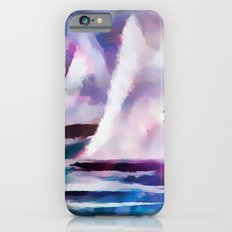 Sailing The Coast Of San Diego by Sherri Of palm Springs/ abstract Slim Case iPhone 6s