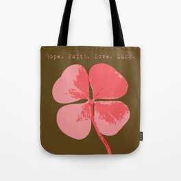 The Clover - Hope Faith Love Luck Tote Bag