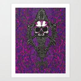 Peeling the Digital Flesh From the Cyber Skull Art Print