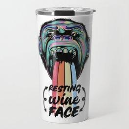 Wine Face GIFT IDEA Travel Mug
