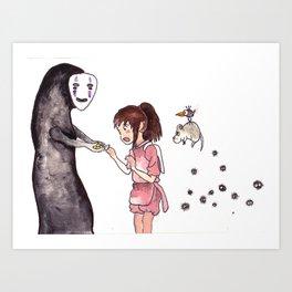 Spirited Away Art Print