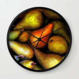 Still Life with Pears Wall Clock