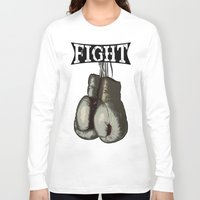 boxing Long Sleeve T-shirts featuring Boxing Gloves - Fight Vintage Boxing by 319media