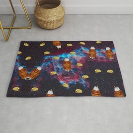 Cat Bacon and Taco Space Rug