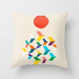 Great Bird Migration Throw Pillow
