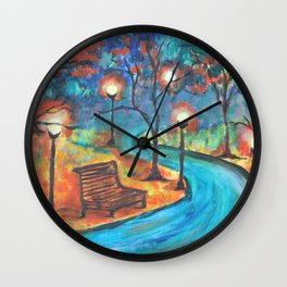 Evening walk Wall Clock