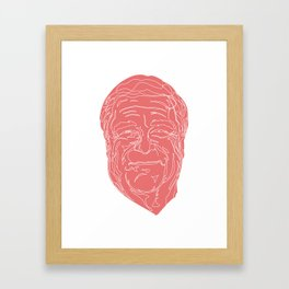 John Goodman in pink and white. Framed Art Print