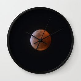 Super Wolf Blood Moon Wall Clock