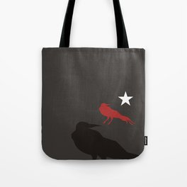 Black Bird Repeat with Star by Ron Brick Tote Bag