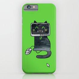 Programmer cat  makes a website iPhone Case