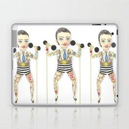 Circus strong man Laptop & iPad Skin