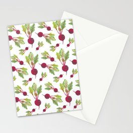 Feel the Beet in Radish White Stationery Cards