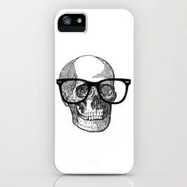 I die hipster - skull iPhone Case