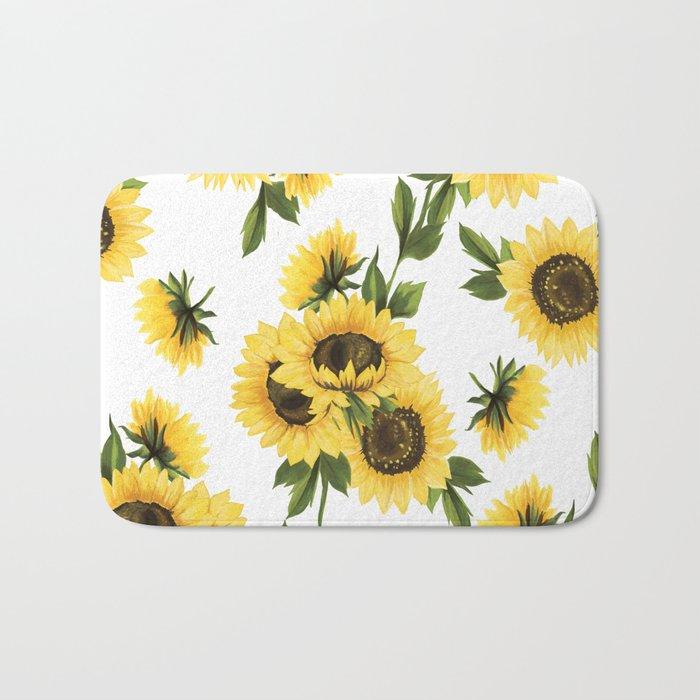 Lovely Sunflower Bath Mat