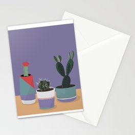 cacti colorblock Stationery Cards