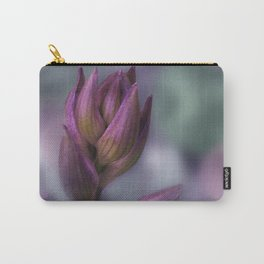Hosta Flower Bud Purple And Green Carry-All Pouch