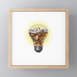 A Turn On Bulb Framed Mini Art Print