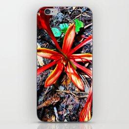 Flor Rojo iPhone Skin