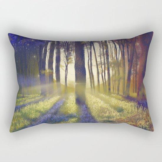 moonlight forest landscape Rectangular Pillow