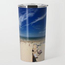 On the beach, blue sky Travel Mug