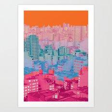 Fragmented Worlds II Art Print
