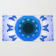 All things with wings (blue) Beach Towel