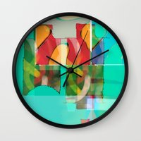 pool Wall Clocks featuring POOL by  ECOLARTE