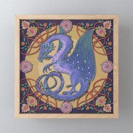 Celtic Medieval Celestial Dragon Framed Mini Art Print