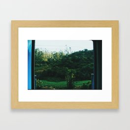 Sri Lankan Train ride Framed Art Print