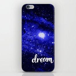 Blue Galaxy Dream iPhone Skin
