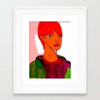 sam smith Framed Art Prints featuring Sam by Latidra Washington