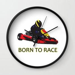 Kart Racing - Born to Race Wall Clock