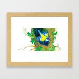 """Illustration for the kids book """"Small White"""" 5 Framed Art Print"""