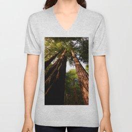Redwood Tree Tops Unisex V-Neck