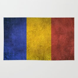 Old and Worn Distressed Vintage Flag of Romania Rug