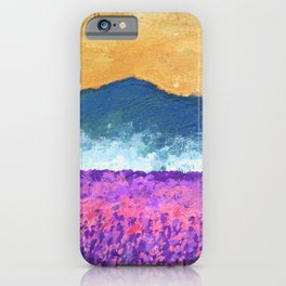 Lavender Field of Skagit Valley, Washington #119 by Mike Kraus - seattle flowers landscapes mountain iPhone Case