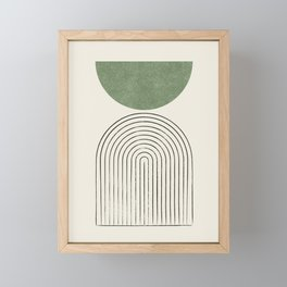 Arch balance green Framed Mini Art Print