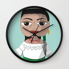Otavalo women Wall Clock