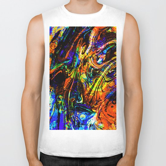 abstract waves ii Biker Tank