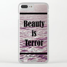 BEAUTY IS TERROR | THE SECRET HISTORY BY DONNA TARTT Clear iPhone Case