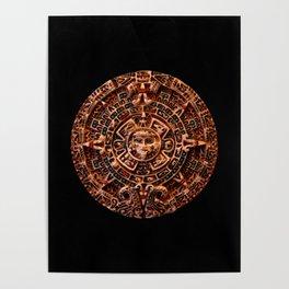 Ancient Mayan Sun Calendar Poster