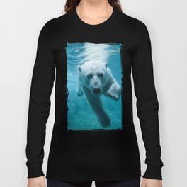 Polar Bear Swimming Long Sleeve T-shirt