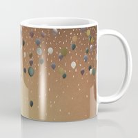 fitzgerald Mugs featuring Innumerable wandering balloons by Emma Fitzgerald