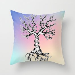 Trees of DNA Throw Pillow