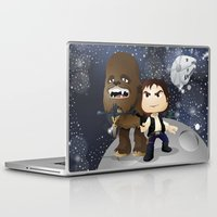 han solo Laptop & iPad Skins featuring Han Solo & Chewbacca by 7pk2 online